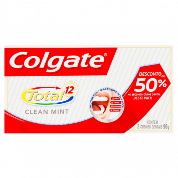 Creme Dental Colgate Clean Mint 90g com 02un